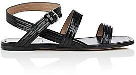 Alumnae Women's Mignon Patent Leather Ankle-Wrap Sandals - Black
