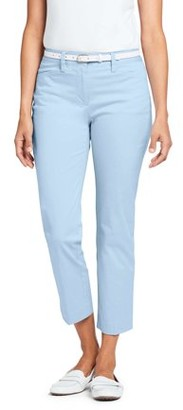 Lands' End Women's Mid Rise Chino Crop Pant