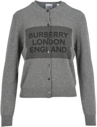 Burberry London Logo Print Cardigan