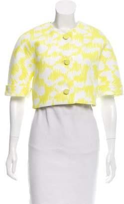 Balenciaga Cropped Abstract Jacket