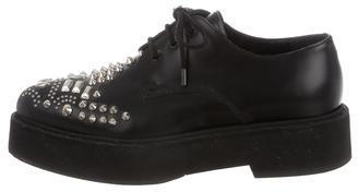 Alexander McQueenAlexander McQueen Studded Leather Oxfords