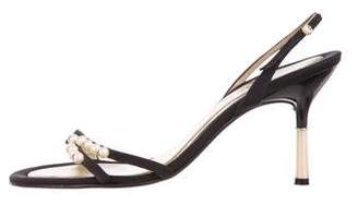 Chanel Pearl CC Slingback Sandals