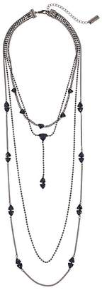 Steve Madden 4 Layer Beaded Curb Necklace Necklace