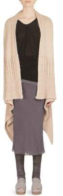 Rick Owens Long Knit Wrap Cardigan