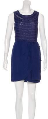 3.1 Phillip Lim Linen Crochet-Trimmed Dress