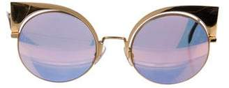 Fendi Eyeshine Mirrored Sunglasses