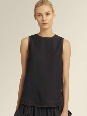DKNY Contrast Stitch Shell