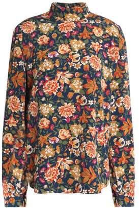 Vanessa Bruno Floral-Print Silk Top