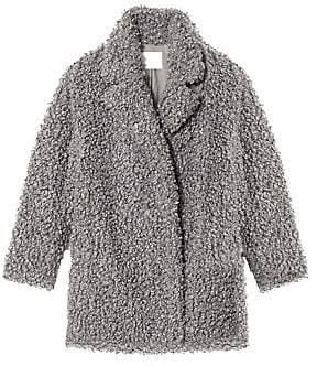 Tibi Women's Faux Curly Lamb Fur Peacoat
