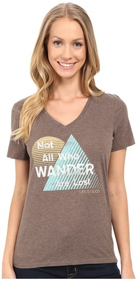 Life is good All Who Wander Triangle Stripe Cool Vee $28 thestylecure.com