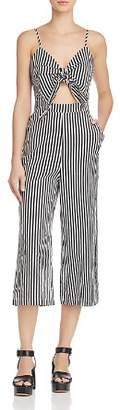 Alpha and Omega Striped Cutout Jumpsuit