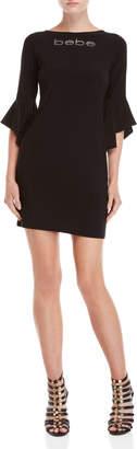 Bebe Embellished Logo Mini Dress