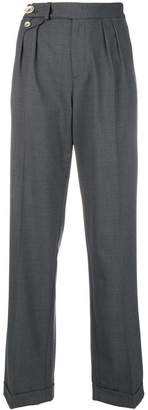Pinko side button pleated trousers