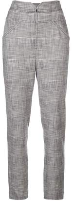 Rebecca Taylor narrow check printed trousers