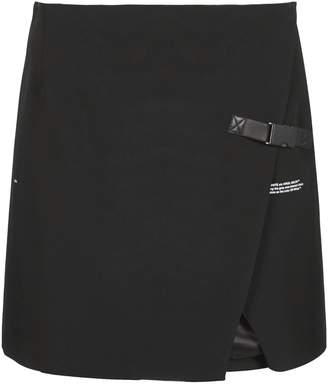Off-White Off White Wrap Mini Skirt