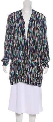 Etro Surplice Neckline Long Sleeve Dress