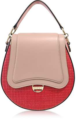 Emilio Pucci Leather and Natural Fiber Top Handle Bag w/Shoulder Strap