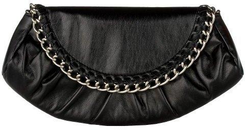 Xhilaration® Chain Flap Clutch - Black