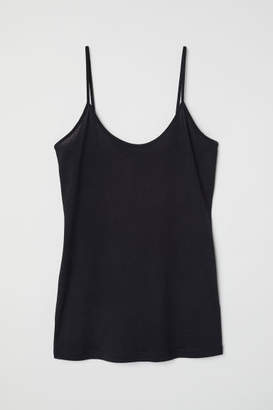 H&M Silk-blend Camisole Top - Black
