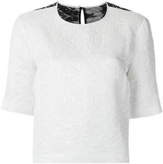 Olympiah textured cropped top