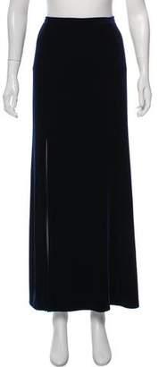Armani Collezioni Velvet Maxi Skirt