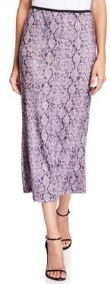 Cinq à Sept Olympia Python-Print Midi Skirt