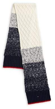 Tommy Hilfiger Colourblock Cable-Knit Scarf