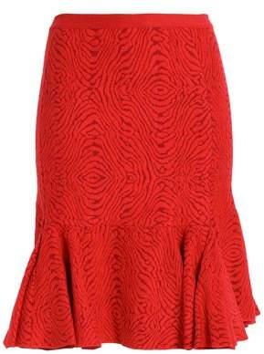 Lanvin Ruffled Jacquard-Knit Skirt