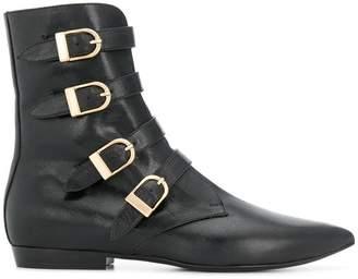 Philosophy di Lorenzo Serafini buckled mid-calf boots
