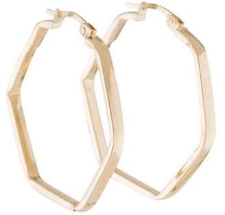 14K Geometric Hoop Earrings