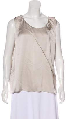 Nina Ricci Sleeveless Silk Top