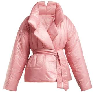 Norma Kamali Sleeping Bag Short Coat - Womens - Pink