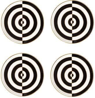Jonathan Adler Op Art Set Of 4 Porcelain Coasters