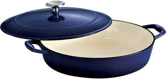 Tramontina Gourmet 4-qt. Enameled Cast Iron Covered Braiser