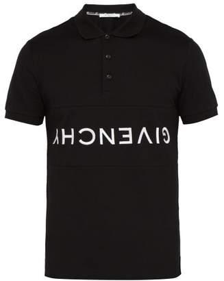 Givenchy Logo Embroidered Cotton Polo Shirt - Mens - Black