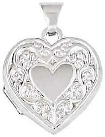 QVC Scroll Heart Locket, 14K Gold