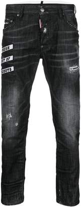 DSQUARED2 embroidered Skater jeans