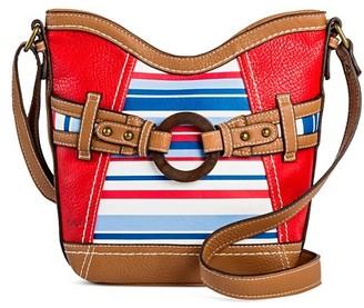 Bolo Women's Crossbody Handbag with Stripe and Zip Closure $34.99 thestylecure.com