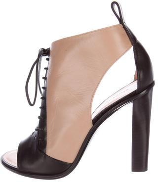 CelineCéline Cutout Leather Booties