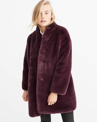 Abercrombie & Fitch Luxe Faux Fur Coat
