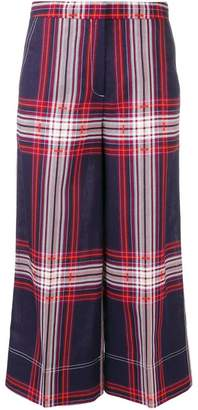 By Malene Birger plaid cropped trousers