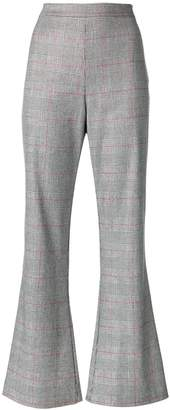 VIVETTA flared checked trousers
