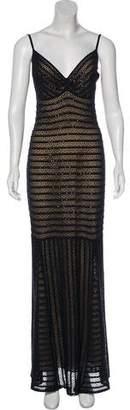 St. John Sleeveless Embellished Evening Dress