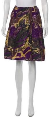 Marni Abstract Print Knee-Length Skirt Purple Abstract Print Knee-Length Skirt