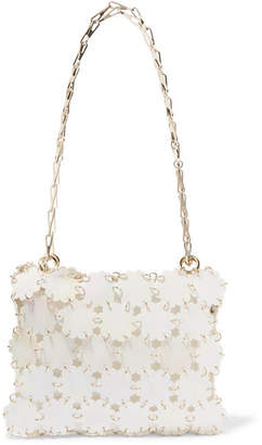 Paco Rabanne Blossom 1969 Sequined Shoulder Bag - White
