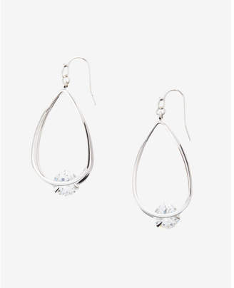 Express Embellished Twisted Oval Hoop Earrings $22.90 thestylecure.com