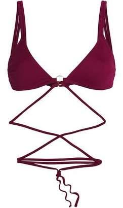 Cushnie et Ochs Strap-Detailed Triangle Bikini Top