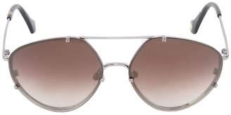 Balenciaga Aviator Sunglasses W/ Degrade Lens