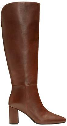 Aerosoles Tall-Shaft Block-Heel Leather Boots -Nik of Time