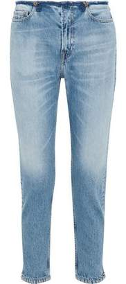 IRO Distressed High-rise Tapered Jeans